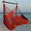Jumbo Caribbean Hammock Chair Red 55 Inch