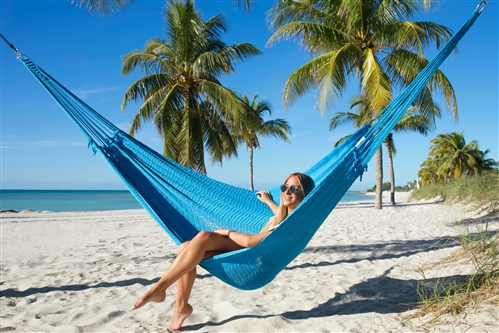 Caribbean Mayan Hammock (LIGHT BLUE)