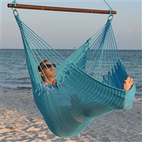 Jumbo Caribbean Hammock Chair Light Blue 55 Inch