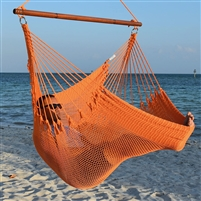 Jumbo Caribbean Hammock Chair Orange 55 Inch