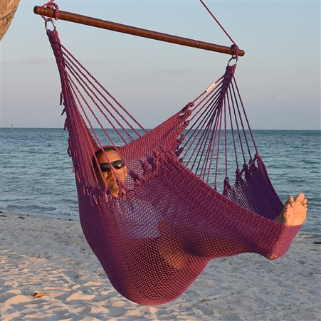 Jumbo Caribbean Hammock Chair Purple 55 Inch