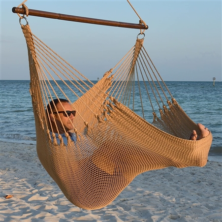 Jumbo Caribbean Hammock Chair Tan