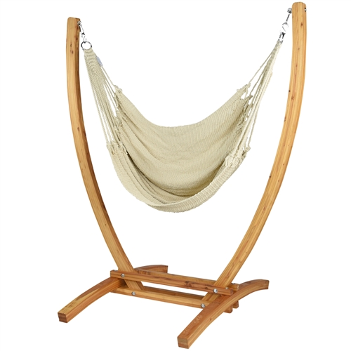 Caribbean Hammock chair recliner with stand